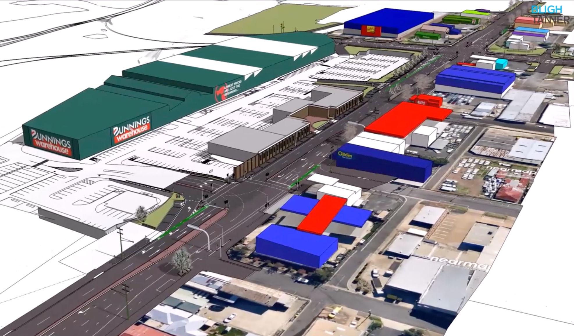Bunnings Warehouse Toowoomba External Roadworks – Bligh Tanner